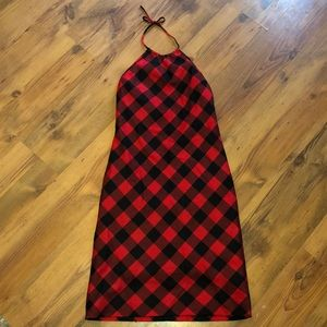 Ralph Lauren Wool Plaid halter dress buffalo check